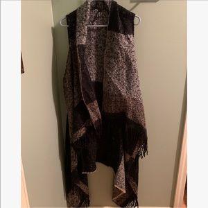 Vera Wang Sleeveless Sweater Cardigan